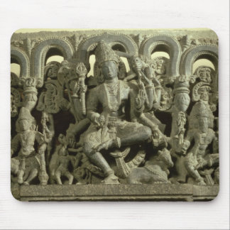 Lintel depicting The Trinity: Siva, Brahma and Vis Mouse Pad