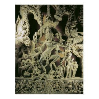 Lintel with Shiva Nataraja, Kakatiya dynasty Post Card