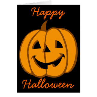 Linterna 3 de Jack O de la tarjeta de Halloween
