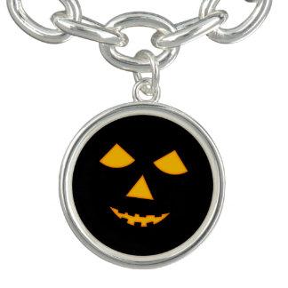 Linterna anaranjada negra de Halloween Jack o de Pulseras