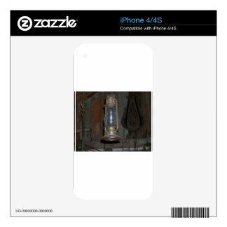 Linterna antigua calcomanías para el iPhone 4S