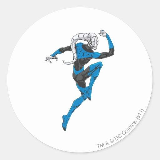 Linterna azul 1 etiquetas redondas