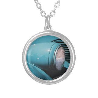 Linterna azul colgante redondo