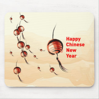 Linterna china del Año Nuevo Tapetes De Ratones