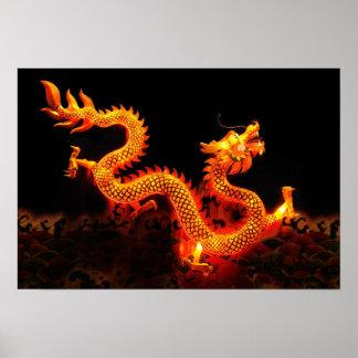 Linterna china del dragón impresiones