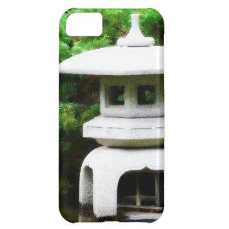 Linterna concreta del jardín de la pagoda japonesa funda para iPhone 5C