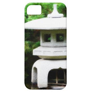 Linterna concreta del jardín de la pagoda japonesa iPhone 5 funda