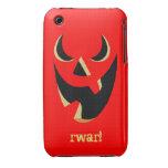 Linterna de griterío de Jack O iPhone 3 Case-Mate Protectores