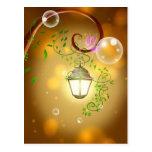 Linterna de hadas animada hermosa tarjetas postales