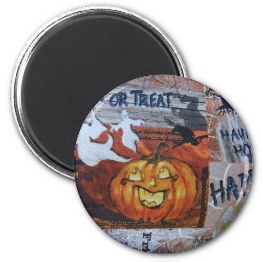 Linterna de Halloween Jack O Imán Redondo 5 Cm