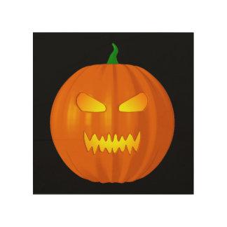 Linterna de Halloween Jack O Impresión En Madera