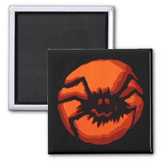 Linterna de Jack O de la araña de Halloween Imán De Frigorifico