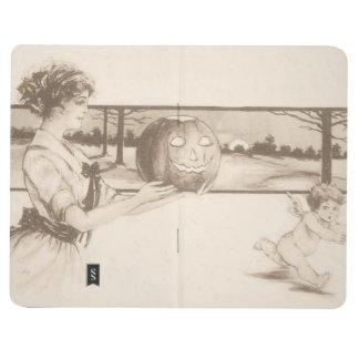 Linterna de Jack O de la mujer que asusta el Cupid Cuaderno Grapado