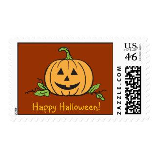 Linterna de Jack O del feliz Halloween Sello