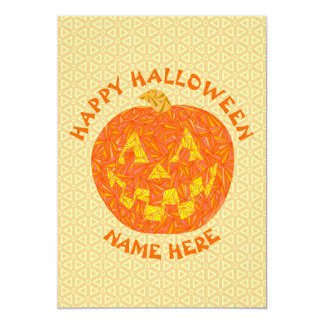"""Linterna de Jack O del fiesta de Halloween Invitación 5"""" X 7"""""""