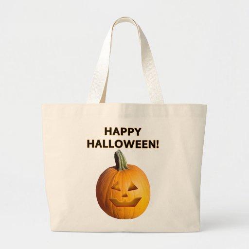 ¡Linterna de Jack O - feliz Halloween! Bolsa De Mano