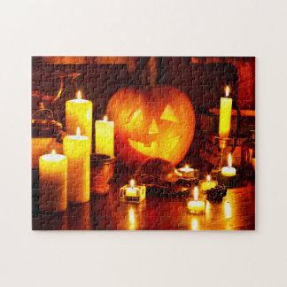 Linterna de la calabaza de Halloween Puzzle