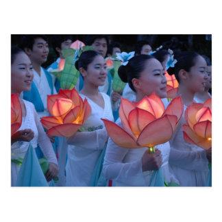 Linterna de Lotus Tarjetas Postales