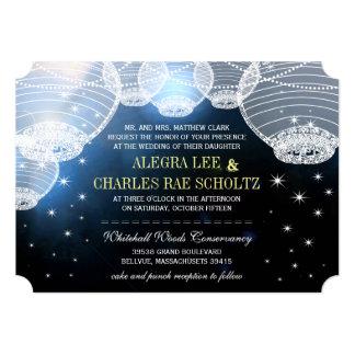 """Linterna de papel de la marina de guerra del boda invitación 5"""" x 7"""""""