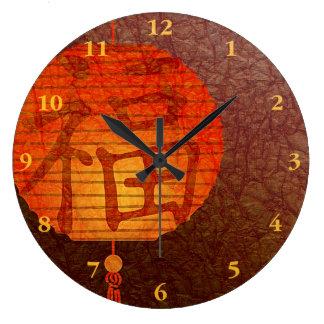Linterna de papel del Año Nuevo Reloj Redondo Grande