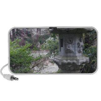 Linterna de piedra de Yashiro Gareden en un día es iPod Altavoces