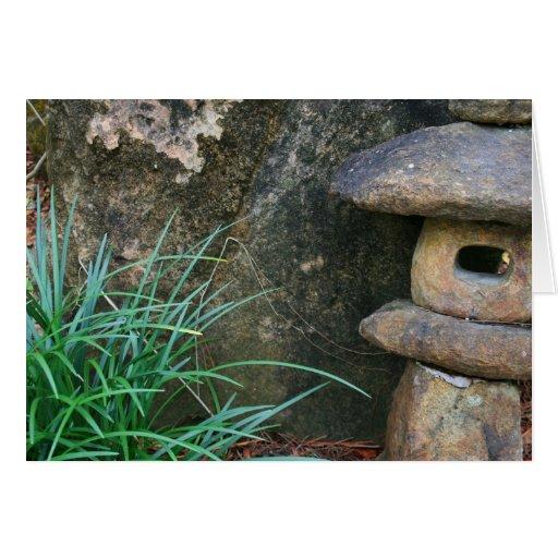 Linterna de piedra japonesa tarjeta de felicitación