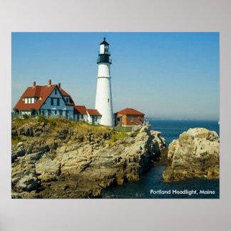 Linterna de Portland, poster de Maine