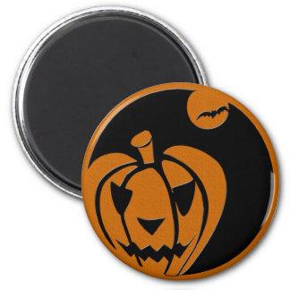 linterna del enchufe o del feliz Halloween Iman De Frigorífico