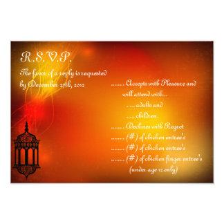 linterna del marroquí de la tarjeta de contestació anuncio personalizado
