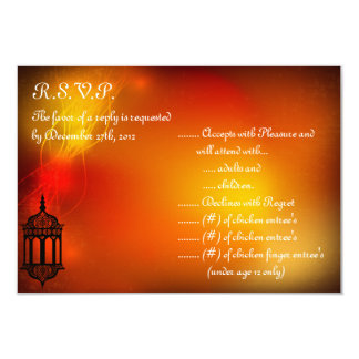 linterna del marroquí de la tarjeta de anuncio personalizado