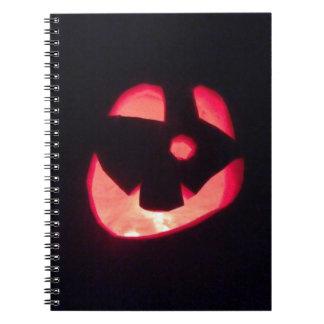 Linterna del o de Halloween Jack Libretas Espirales