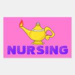 Linterna del oficio de enfermera etiquetas
