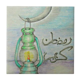 Linterna del Ramadán Azulejo Cuadrado Pequeño