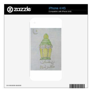 Linterna del Ramadán Skin Para El iPhone 4S