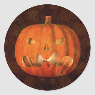 Linterna elegante del enchufe o de Halloween Pegatina Redonda