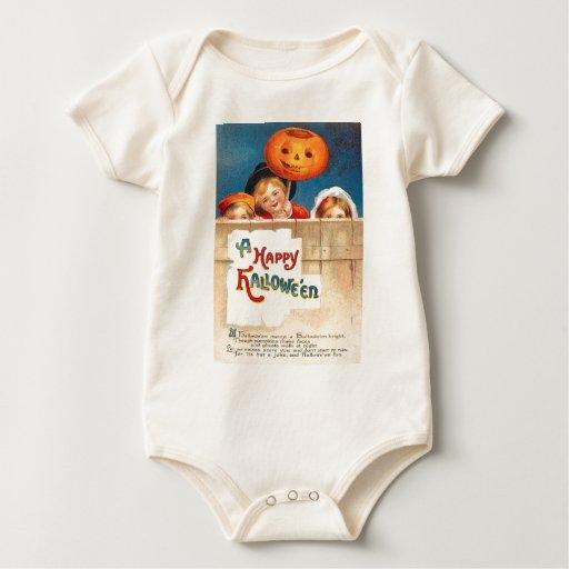 Linterna Ellen Clapsaddle de Jack O de los niños Body Para Bebé
