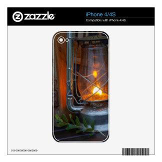Linterna en el campo de los llanos, parque iPhone 4 skin