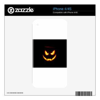 Linterna fantasmagórica de Jack O iPhone 4 Calcomanías