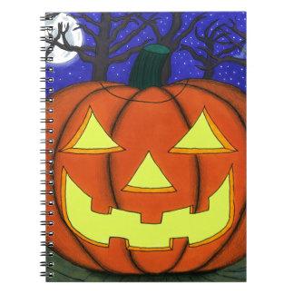 Linterna fantasmagórica de Jack O Spiral Notebooks