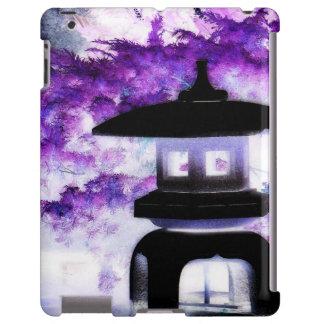 Linterna japonesa púrpura artsy de la pagoda