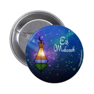 Linterna mágica del Ramadán - botón del saludo de  Pin Redondo De 2 Pulgadas