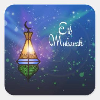 Linterna mágica del Ramadán - pegatina del saludo