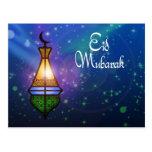 Linterna mágica del Ramadán - postal del saludo de