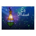 Linterna mágica del Ramadán - tarjeta de