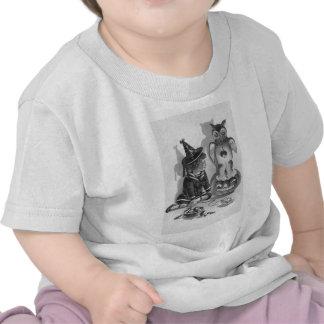 Linterna monocromática de Jack O del búho de la Camiseta
