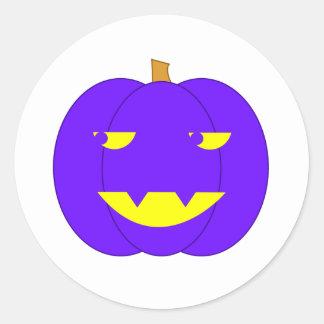 Linterna púrpura misteriosa de Jack-o' Etiqueta Redonda