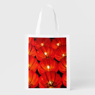 Linterna roja en la noche bolsa para la compra