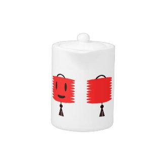 """Linterna roja feliz """"pote del té """""""