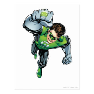 Linterna verde - cómica, aumento del brazo tarjetas postales