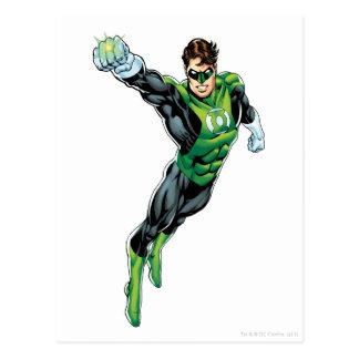 Linterna verde - cómica, brazo hacia fuera postal